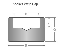Forged Socket Weld Cap Dimensions