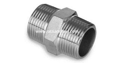 ASTM B564 Nickel 200 Hexagon Nipple 60 deg Cone manufacturer in India‎‎