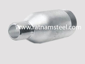 Nickel 200 Plain Threaded Swage Nipples manufacturer in India