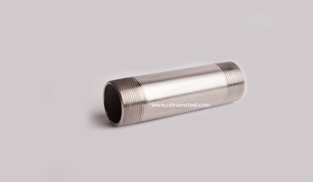 Nickel 200 Threaded Both Ends Pipe Nipples manufacturer in India