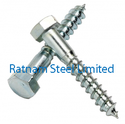 Stainless Steel 201/202 Coach screws / Lag screw manufacturer in India