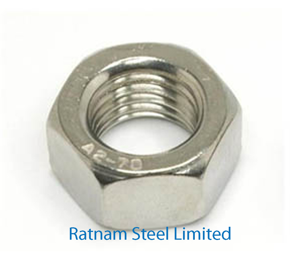 Stainless Steel 201/202 Hex Nuts manufacturer in India