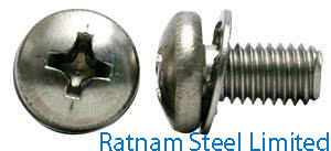 Super Duplex Steel 2507 Sems Screw manufacturer in India