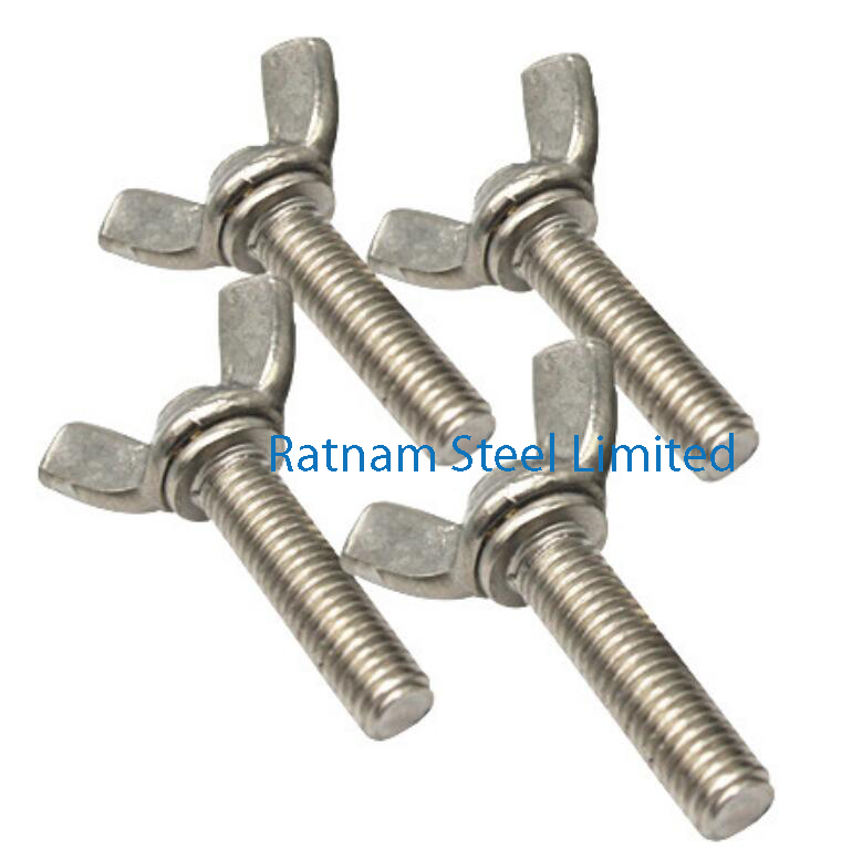 Stainless Steel 201/202 Thumb & Wing Screws manufacturer in India